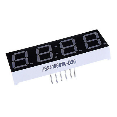 2x 0.56'' 7-Segment 4 Digit Super Red LED Display Common Anode Time for Arduino