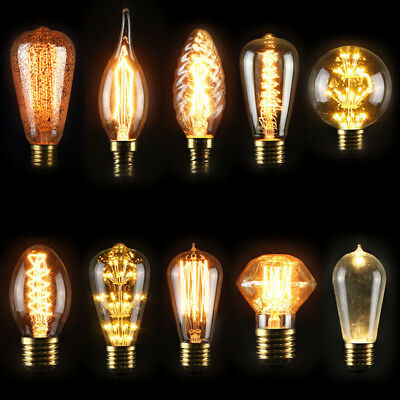 E27 40W Industrial Style Vintage Retro Edison Filament Light Bulb Lamp 110V/220V