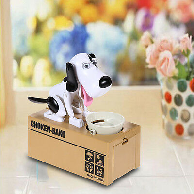 Cute Stealing Coin Money Box Dog Piggy Bank Storage Hungry Eating Dog Coin Bank