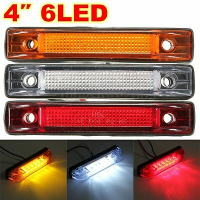 6 LED Clearance Side Marker Light Indicator Lamp Strip Truck Trailer Lorry 12V