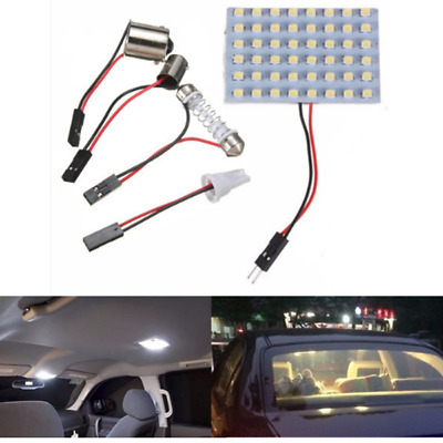 Pure White T10 BA15S 1156 LED 48SMD Panel Interior Dome Map RV Trailer Light