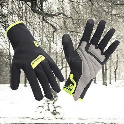 Winter Bike Bicycle Cycling Full Finger Gloves Brand Waterproof Windproof M/L/XL