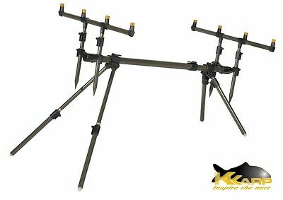 19200310 Supporto Canne Pesca K-Karp Patriot Rod Pod Carpfishing Alluminio PP