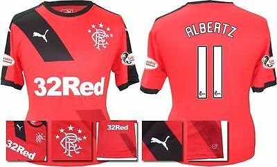 *15 / 16 - Puma ; Rangers Away Shirt Ss + Patches / Albertz 11 = Size*