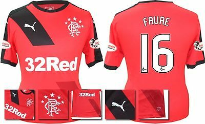 *15 / 16 - Puma ; Rangers Away Shirt Ss + Patches / Faure 16 = Size*