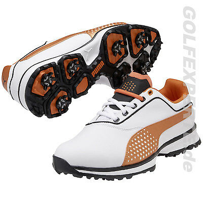 Puma Golf Golfschuhe Herren Titanlite White/black/vibrant Orange Wasserdicht Neu