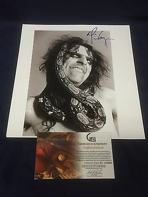 Alice Cooper Rock Singer School's Out Signed Autograph 11x12 Book Photo COA