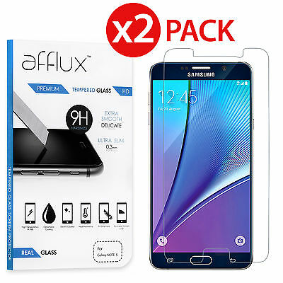 2x Premium Real Tempered Glass Film Screen Protector for Samsung Galaxy Note 5
