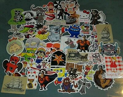 LOT DE 50 AUTOCOLLANTS STICKERS  DIFFERENTS DOODLE tuning lot F