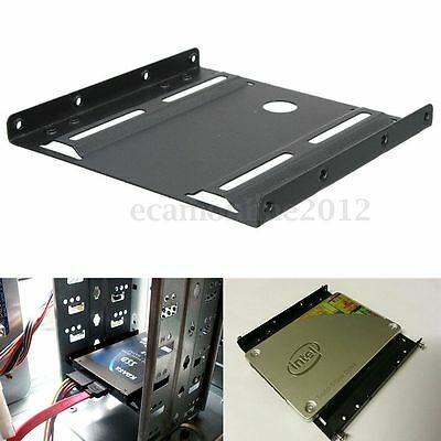 2.5'' to 3.5'' HDD/ SSD Disque Dur Support Rail Adaptateur Bracket Mount + Vis