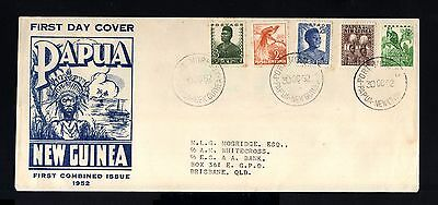 7354-PAPUA NEW GUINEA-FIRST DAY COVER PORT MORESBY to BRISBANE (australia).1952.
