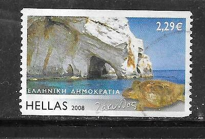 GREECE GREEK SC#2338 2008 ISLANDS 2.29e LARGE DEFINITIVE POSTALLY USED STAMP