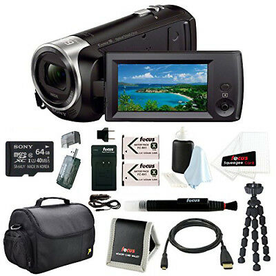 Sony HD Video HDR-CX405B Zeiss 60x Zoom Camcorder Black 64GB Accessory Bundle