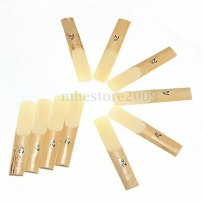 10X Traditional Bb Clarinet Reeds Reed Cane Strength 2 1/2 Xmas Present in Box