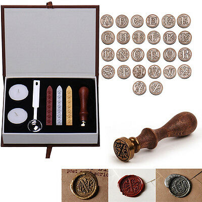 26 Letters Alphabet Initial Sealing Wax European Classic Brass Copper Head Stamp