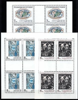Czechoslovakia 1992 Art 27th Series Set 3 Sheetlets 4 (12) MNH