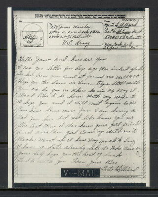 US 1945 V-Mail, Co F & 1 Engrs Regt (France to Admiralty Is) APO 878 to APO 324