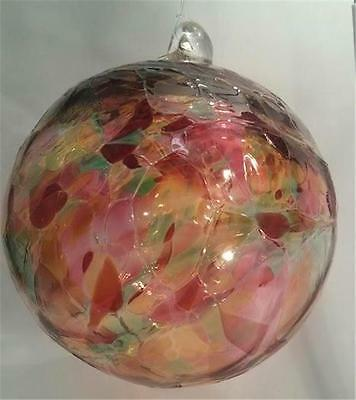 New Witch Ball Large Stained Glass Friendship Ornament Bronte Harbour Autumn #1