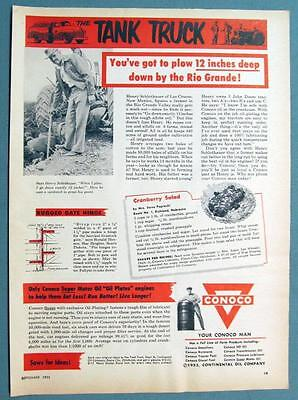 Dated 1953 Conoco Oil Ad Photo Endorsed by Henry Schlothauer of Las Cruces NM