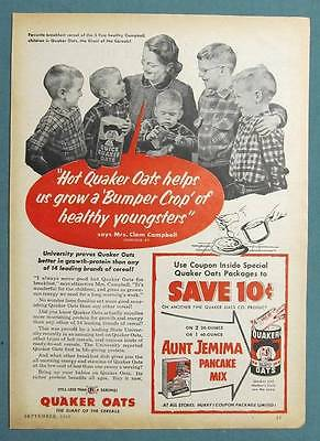 1953 Cereal  Ad Photo Endorsed by Mrs Clem Campbell of Louisville Kentucky