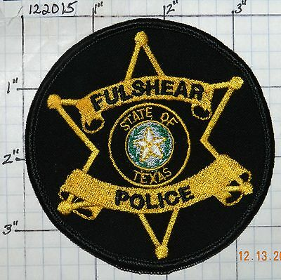 Texas, Fulshear Police Dept Patch