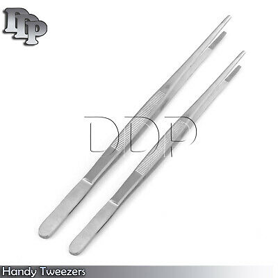 "2 pcs HANDY 10'',  12"" INCH LONG TWEEZERS INSTRUMENTS Stainless steel"