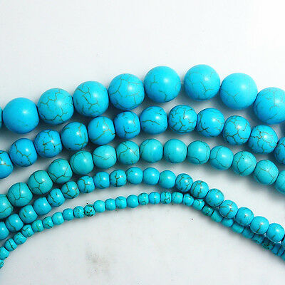 Wholesale Turquoise Gemstone round Spacer Loose Beads 4/6/8/10/12/14mm