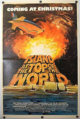 Island at the Top of the World - original movie poster  27x41 Tri-Fold 1974