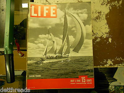 LIFE MAGAZINE - 7/1/1946 - Georges Bedault/Sistine Chapel/Championship Fight