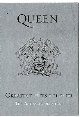QUEEN Greatest Hits I,II & III Promotional Postcard 6x4 inches