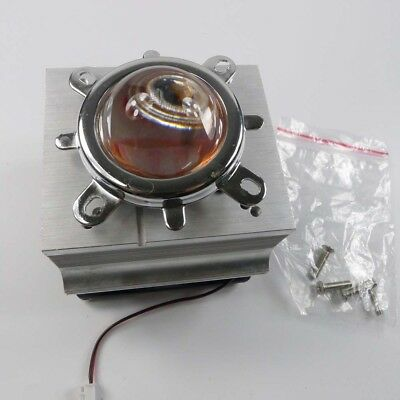 20-100W LED Aluminium Heat Sink Cooling Fan+44mm Lens + Reflector Bracket kit