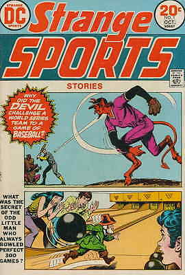 STRANGE SPORTS #1 G, Devil cover, writing & stamped inside, DC Comics 1973