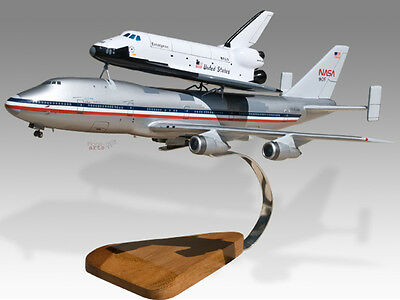 Boeing 747 NASA Shuttle Carrier Aircraft Mahogany Wood Desktop Airplane Model