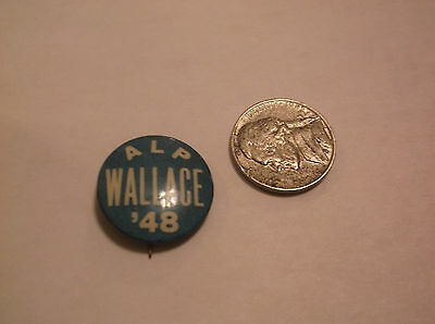 CR) RARE Henry Wallace '48 Political Pin American Labor Party