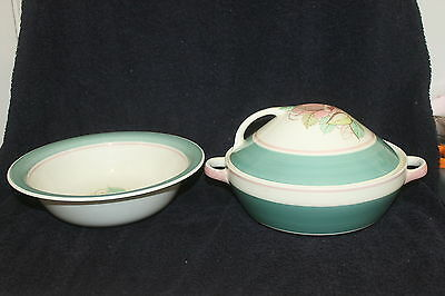 Vintage Mid Century Modern Susie Cooper Crown Works Covered Tureen And Bowl