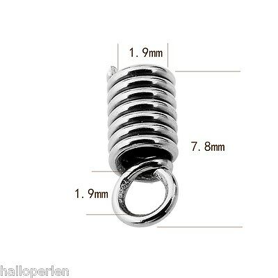 100PCs Stainless Steel Spring Necklace  Ends Jewelry Findings