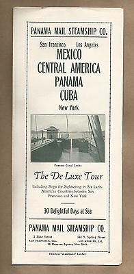 Panama Mail Steamship Co. Deluxe Tour, San francisco, Central America, New York
