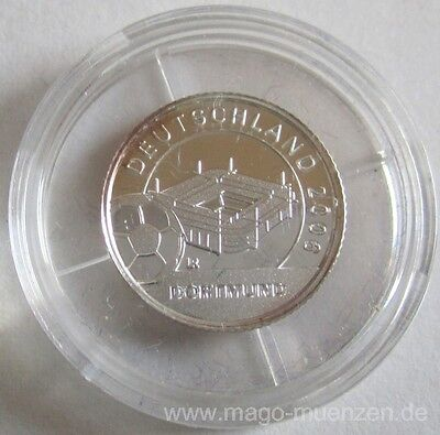 Liberia 1 Dollar 2004 Football World Cup in Germany Dortmund Silver