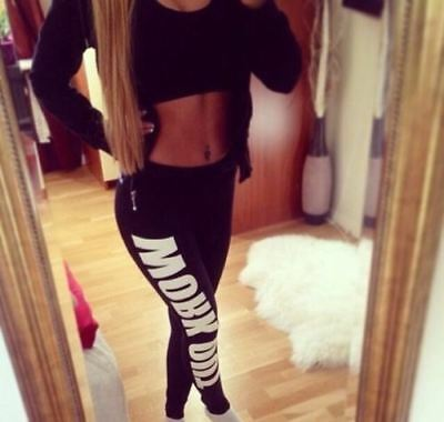 Womens Ladies Work Out Sports Gym Yoga Training Pants Stretch Running Leggings