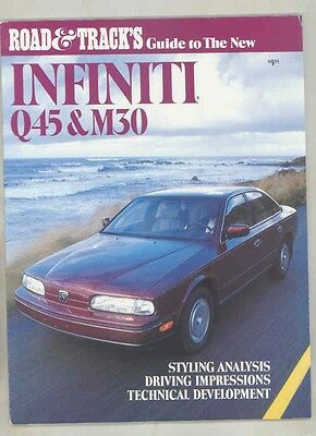 1990 Infiniti Q45 M30 Road & Track Guide Brochure my5648