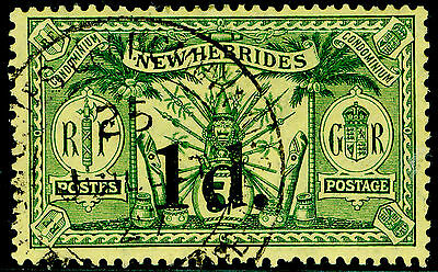 Sg33, 1d on 5s green/yellow, VERY FINE used, CDS. Cat £10.