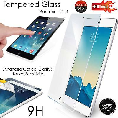 Real 9H Premium Tempered Glass Screen Protector Film For Apple iPad Mini 1 2 3!