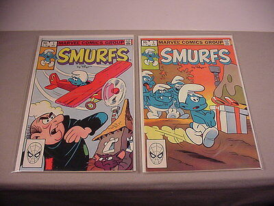 1982 Smurfs 2 Comics Books #1 first & #3 Comic Smurf vintage toys