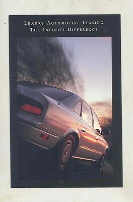 1992 Infiniti Leasing Small Brochure my5658