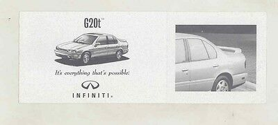 1994 Infiniti G20t Small Brochure my5663