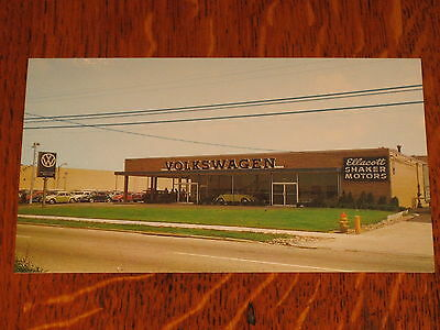 Vintage VW Dealership Postcard