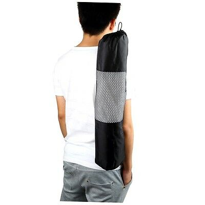 Portable Yoga Pilates Mat Nylon Bag Carrier Mesh Case Adjustable Strap GH