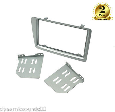 CT23HD30 Double Din Silver Fascia Adaptor For Honda Civic 2001 to 2006 EP2 & EP3