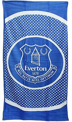 New Everton Fc Bullseye Football Towel - Premier League Team Beach Holiday Bath