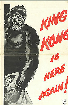 * KING KONG & I WALKED WITH A ZOMBIE 1956 RKO Combo Pressbook Great Condition!